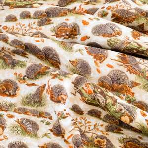 Cotton hedgehog fabric