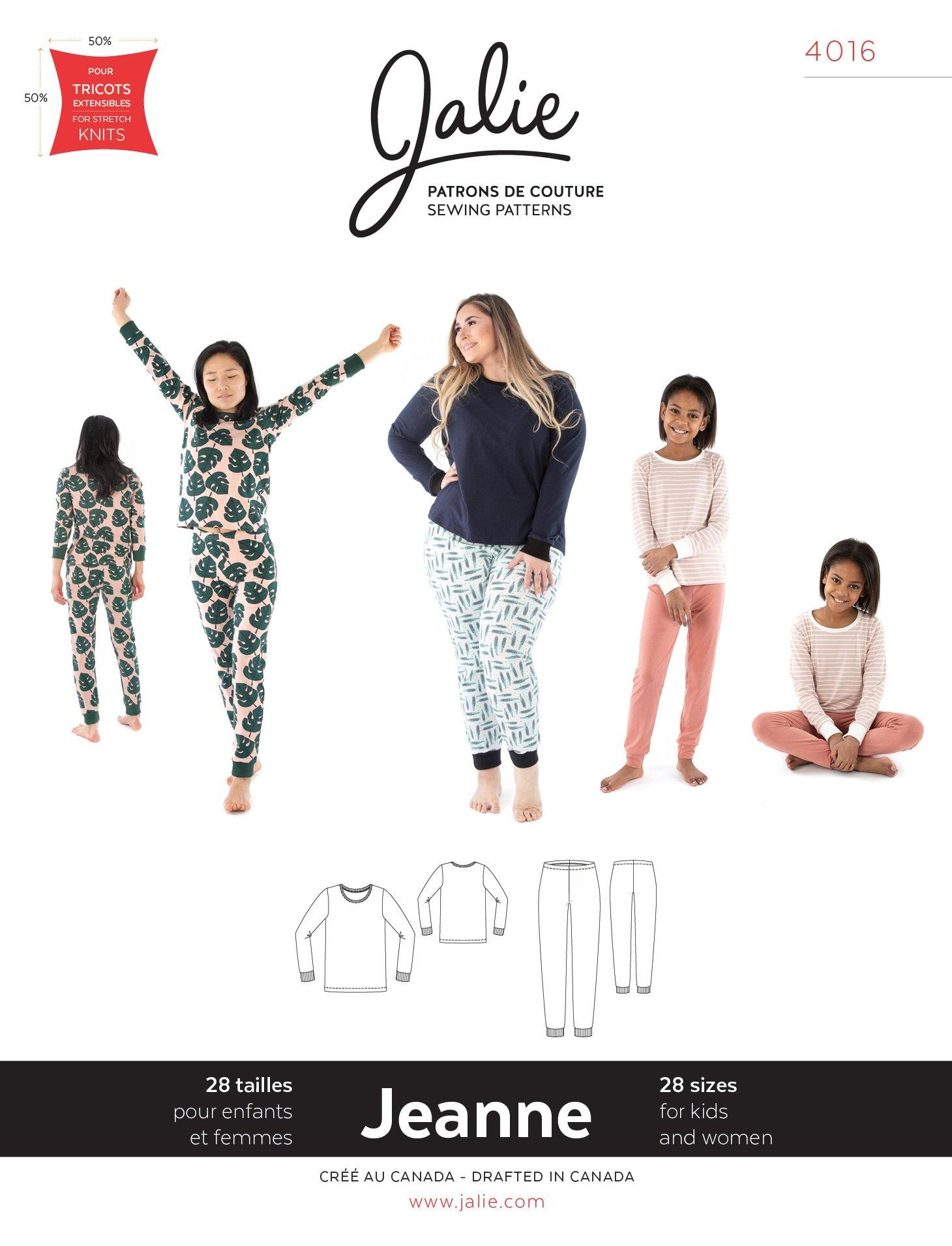 Jalie sewing pattern pyjamas