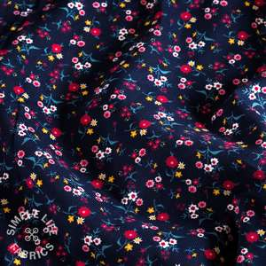 Ditsy floral babycord corduroy fabric