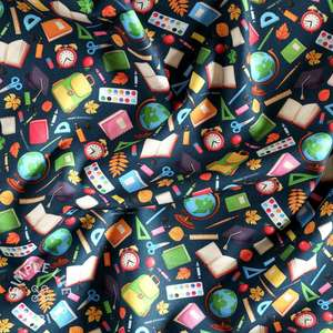 School teachers cotton fabric