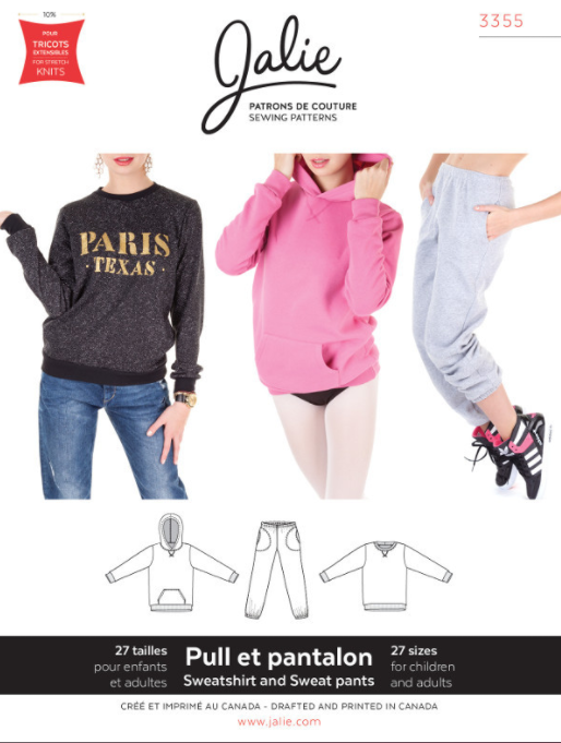 Jalie sweatshirt sewing pattern