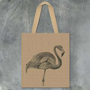 Flamingo tote bag shopper