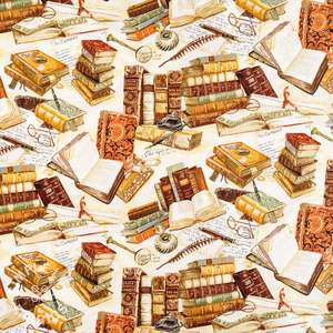 Books cotton craft fabric