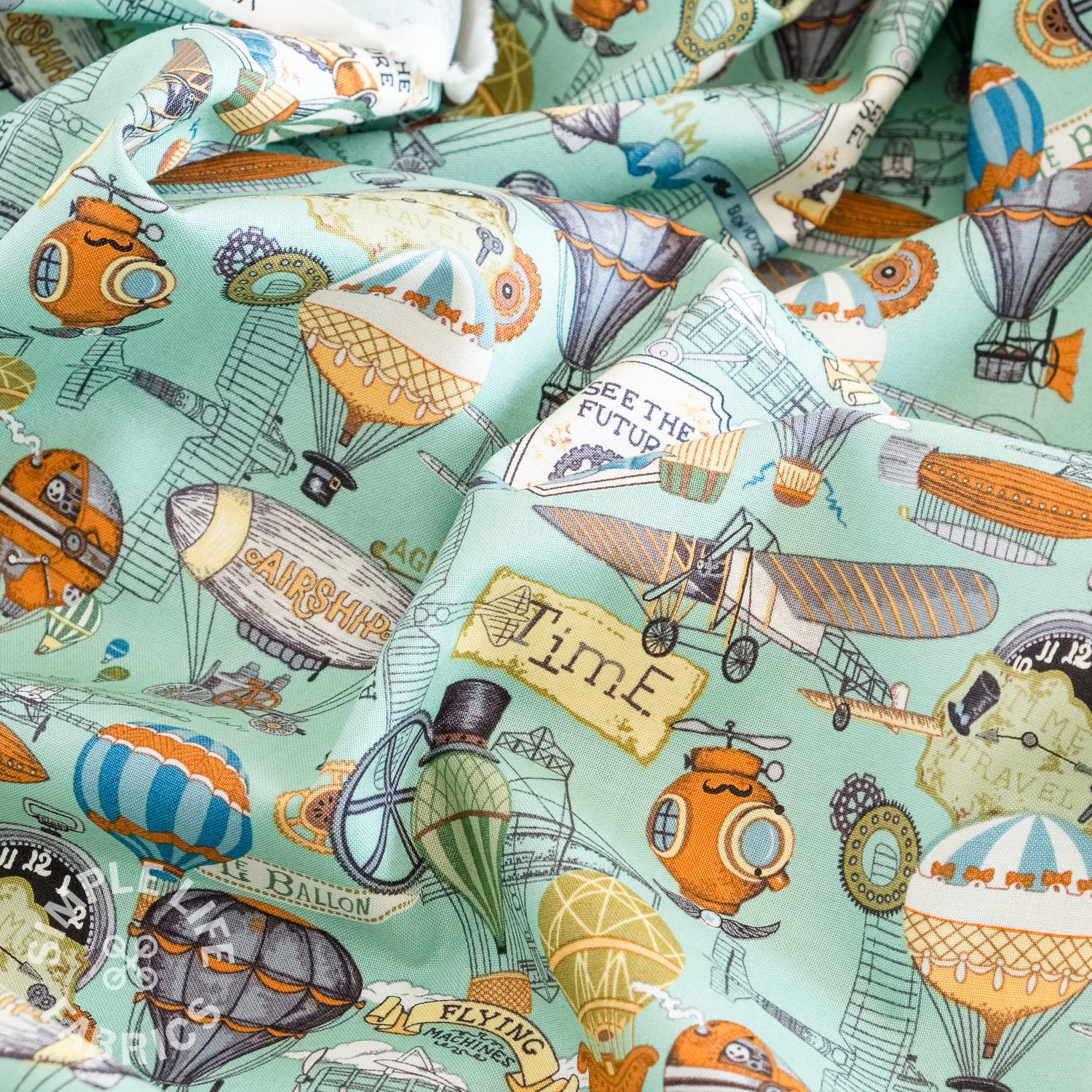 Vintage style cotton fabric uk
