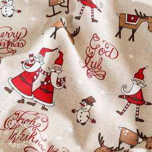Father Christmas santa Xmas fabric
