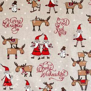 Christmas crafts fabric