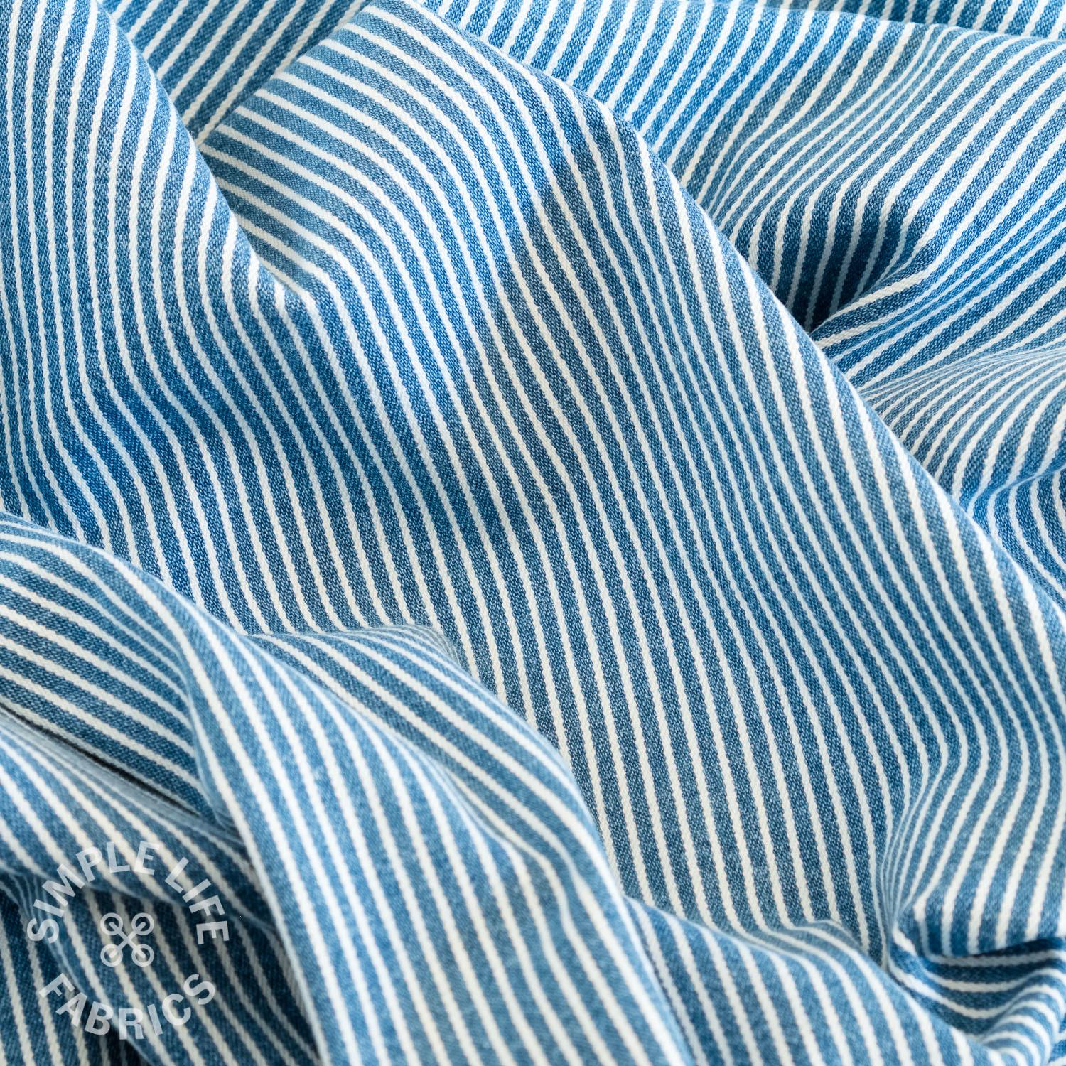 striped denim stretch fabric uk
