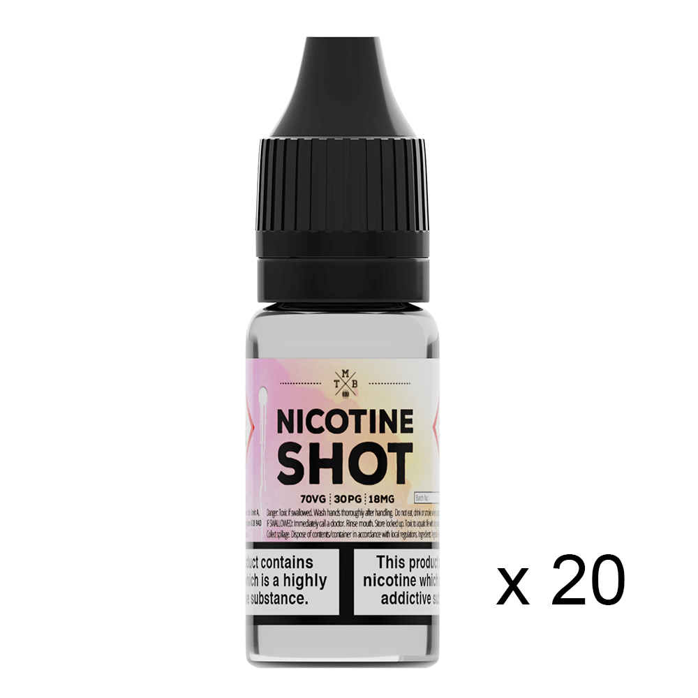Tmb Notes Nicotine Shot 70/30 20 Pack