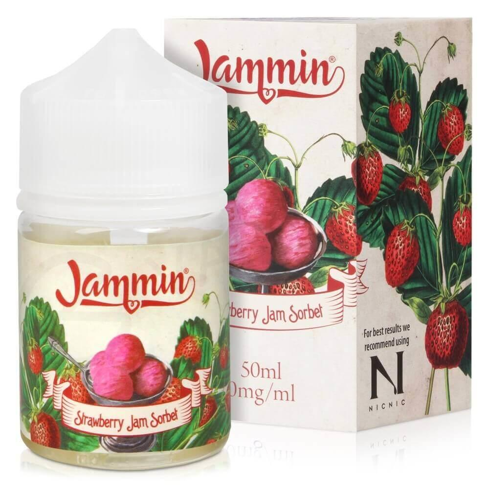 Strawberry Jam Sorbet - 0mg - Shortfill By Jammin Vape Co