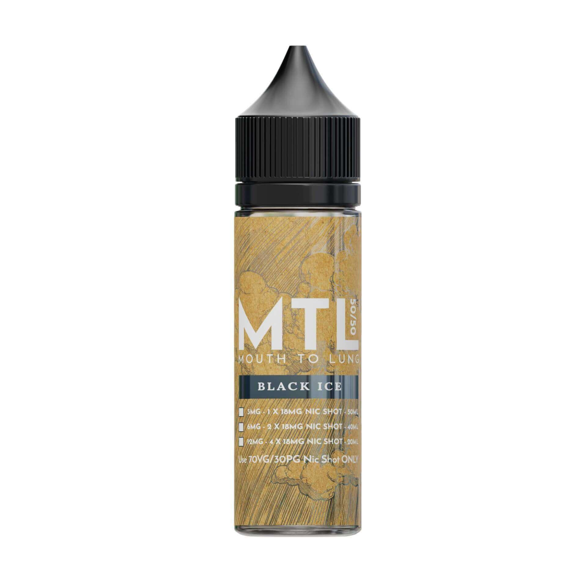 Black Ice MTL 0mg 50ml Shortfill