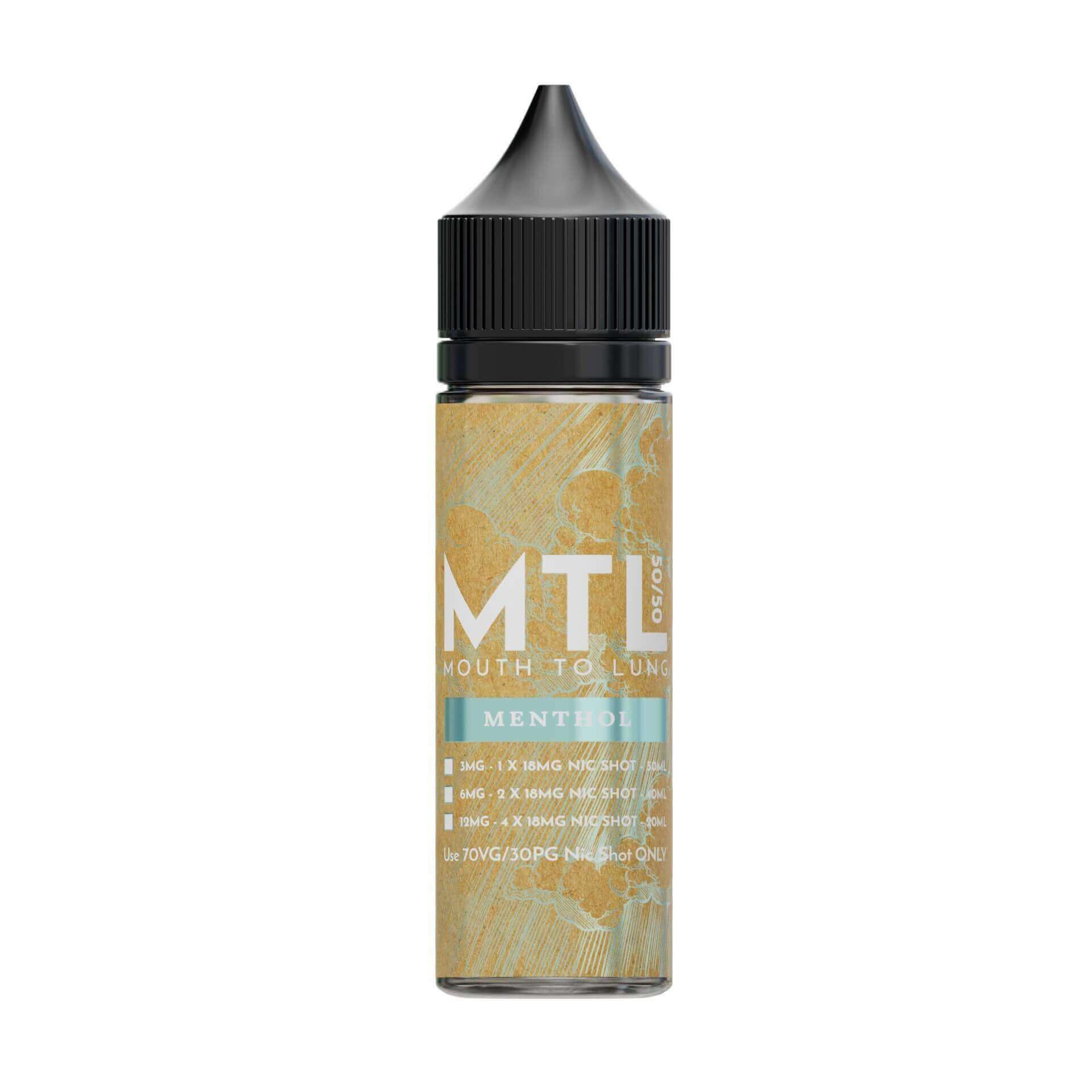 Menthol MTL 0mg 50ml Shortfill