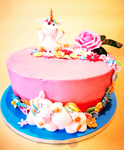 unicorn girls  birthday  party cakes cake delivery ,east dulwich, south london