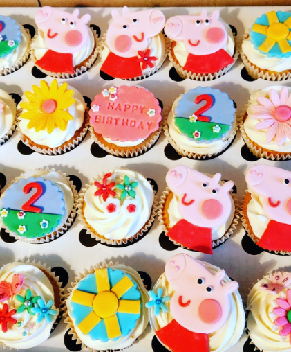 peppa pig cupcakes london delivery delivered