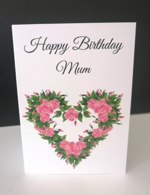 Happy Birthday Mum gift card