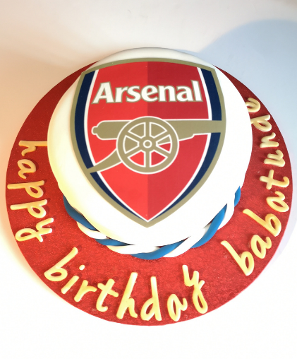 football team theme cake arsenal west ham chelsea crystal palace boys