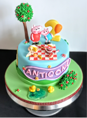 Peppa Pig girls birthday cake cakes south london delivery delivered