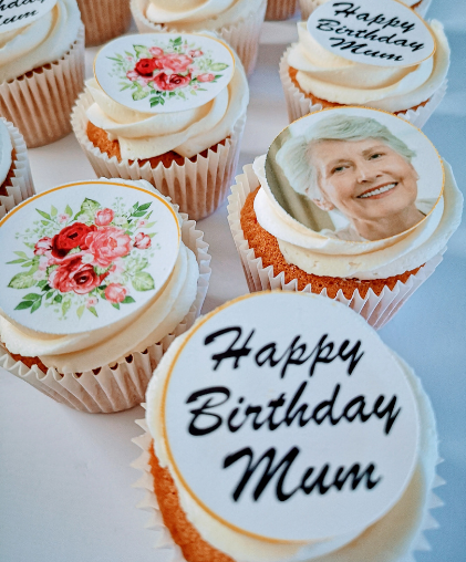 mums birthday photo cupcakes south london east dulwich delivery