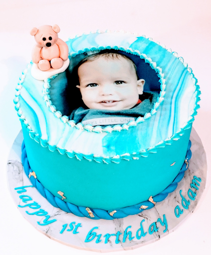 baby boy baby girl photo cake boys girls birthday cake south east london delivery