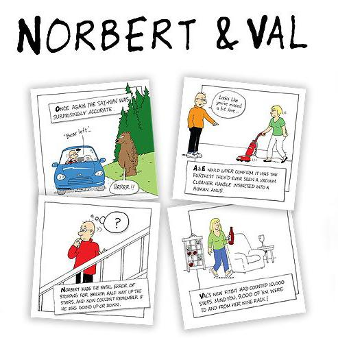 Norbert and Val cards logo