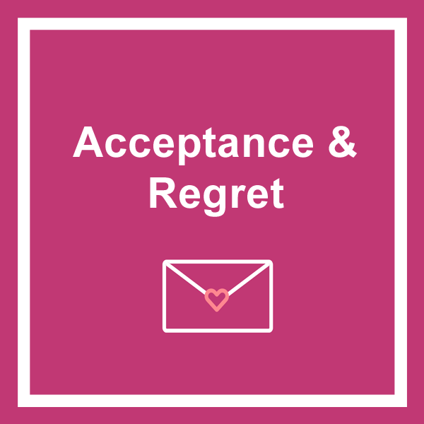 Acceptance and regret cards category icon