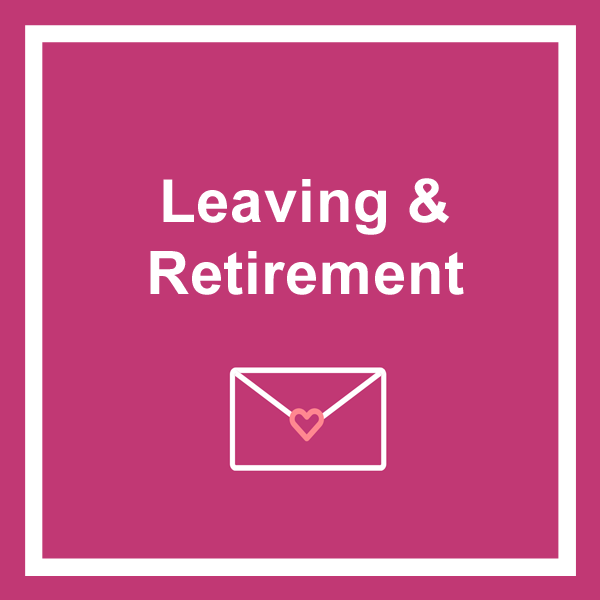 Leaving and retirement greeting cards category icon