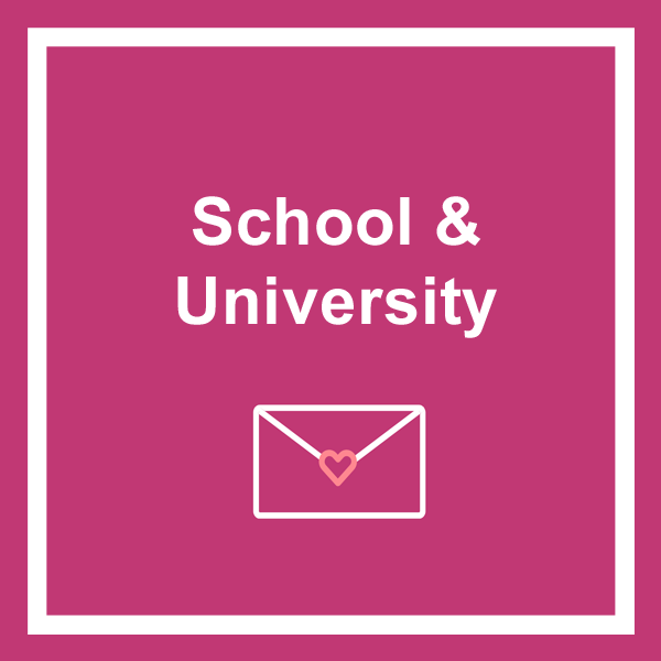 School and university greeting cards category icon