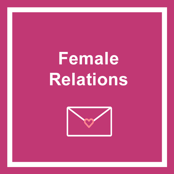 Female relations birthday cards category icon