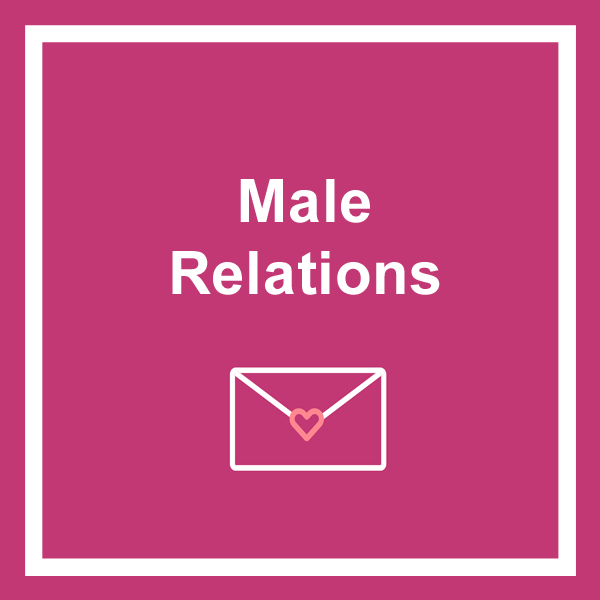 Male relations birthday cards category icon