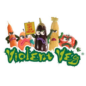 Violent Veg cards logo