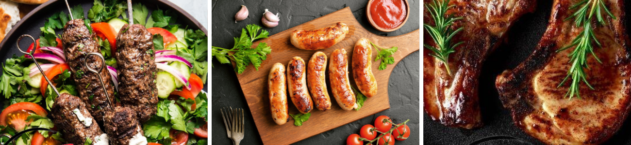 Selection of meats for summer BBQ