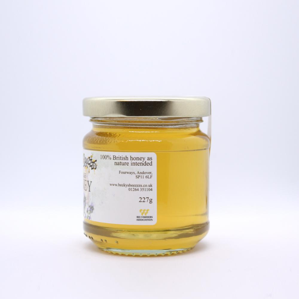 8oz Borage Local Raw Honey Left