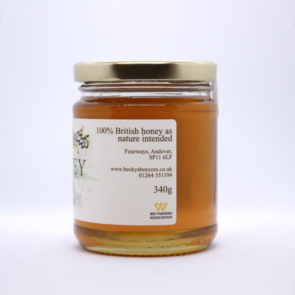 12oz Runny Local Honey Left