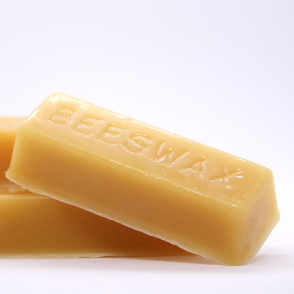 Pure Beeswax Bar Closeup