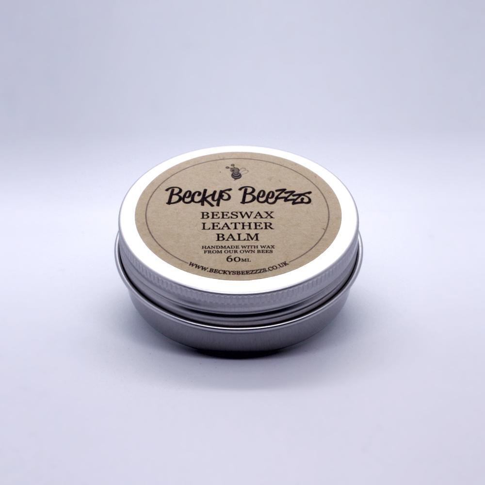 Beeswax Leather Balm Tilted Tin