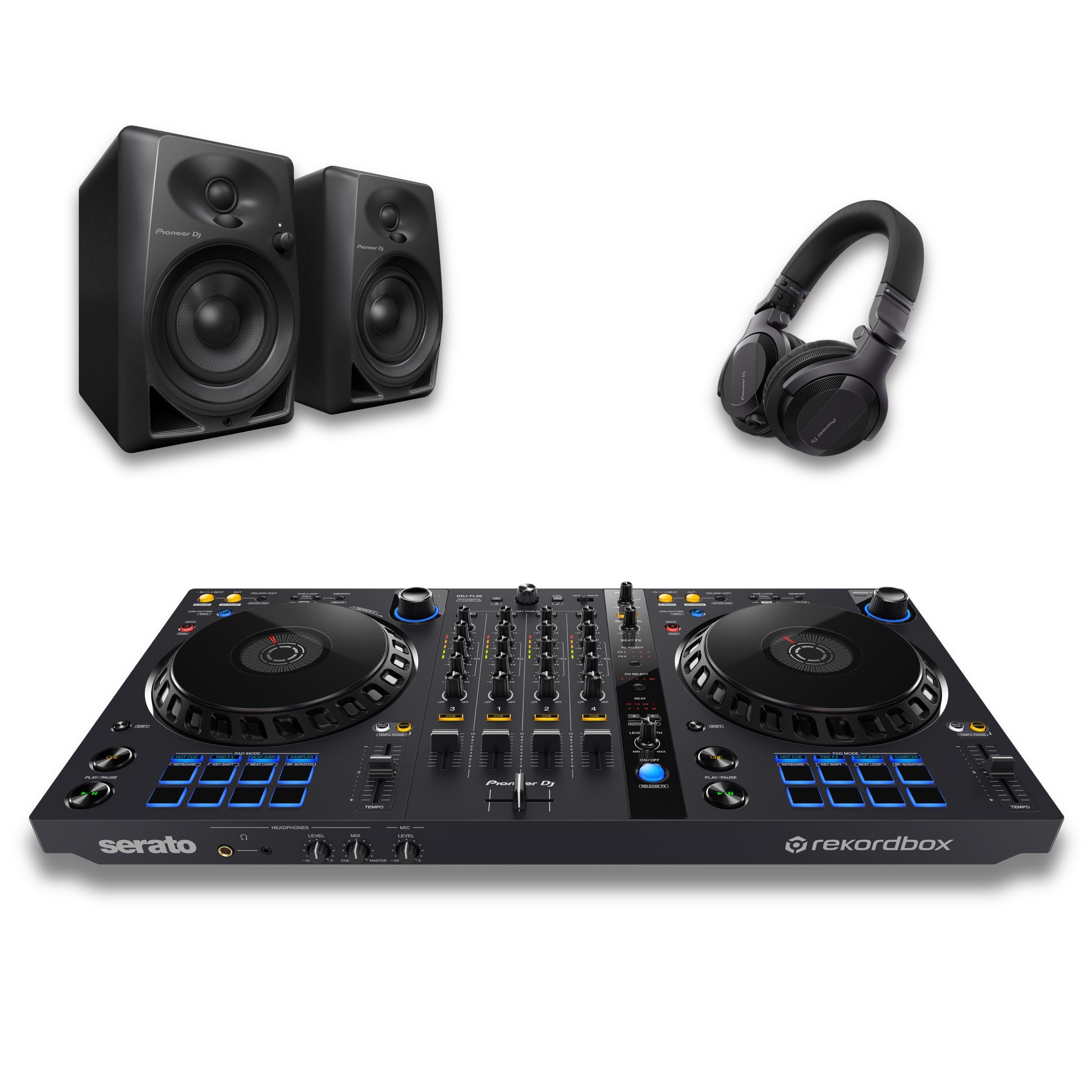 Pioneer DJ DDJ-FLX6 & DM-40 Package