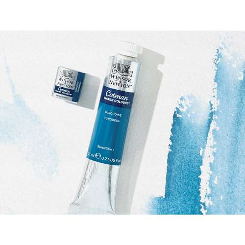 Winsor and Newton Cotman watercolour tube and half pan