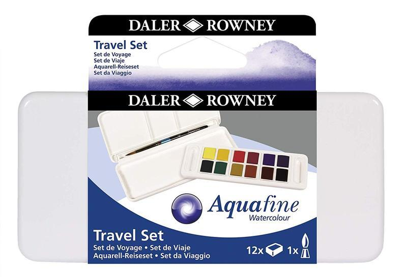 a Daler Rowney Aquafine watercolour box