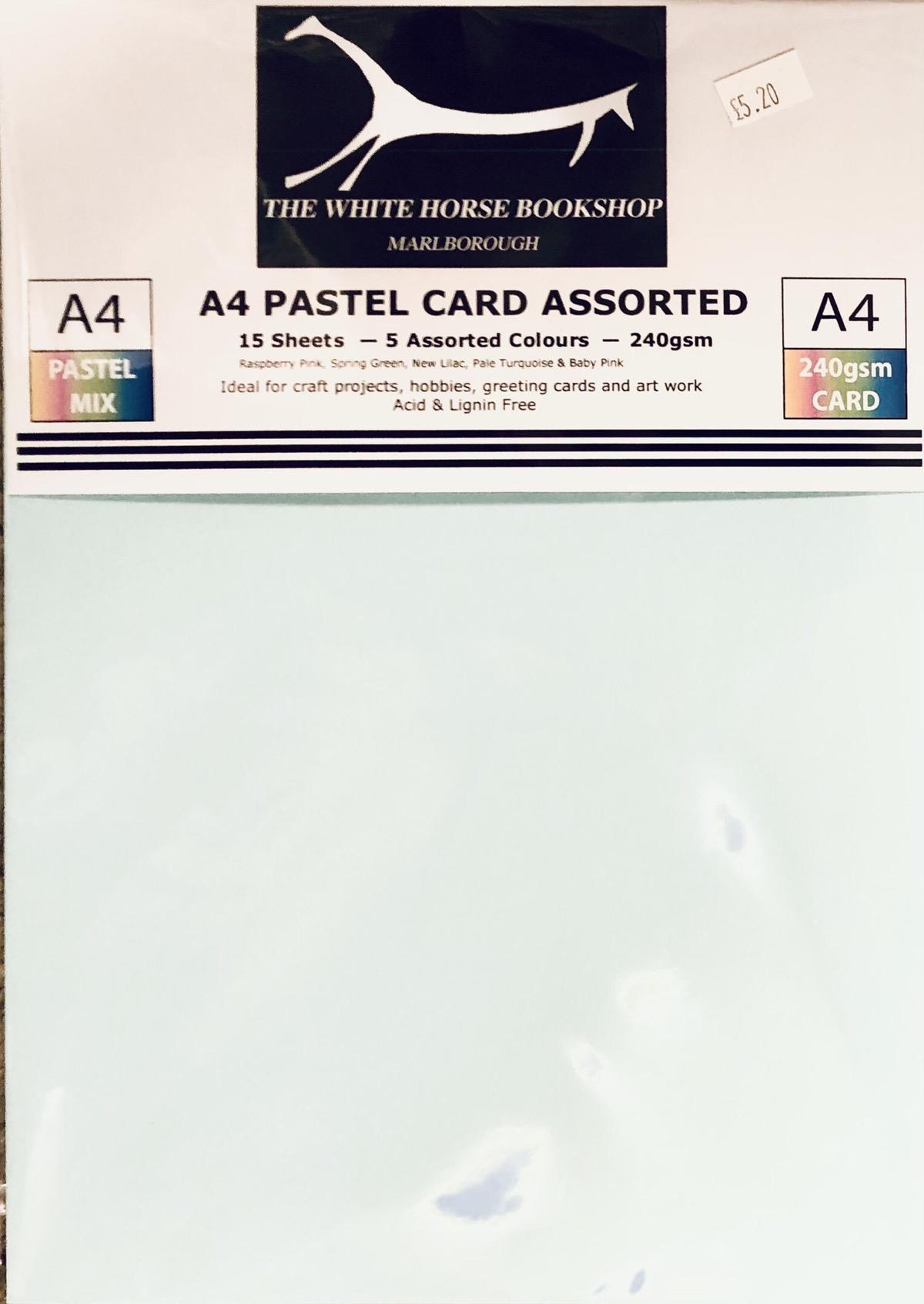 Assorted colours card pack