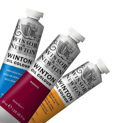 37ml tubes of Winsor and Newton Winton student oil paint