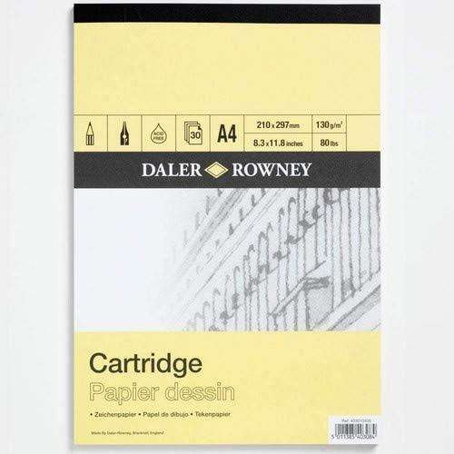 a yellow cover Daler Rowney cartridge paper pad
