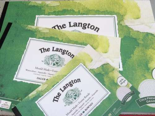 three Daler Rowney The Langton paper pads