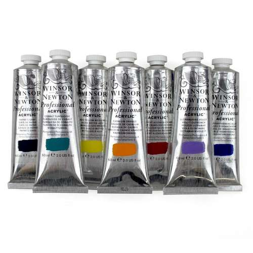 tubes of winsor and newton artists acrylic paint