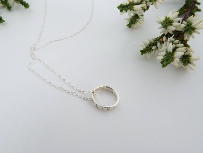 silver charms necklace