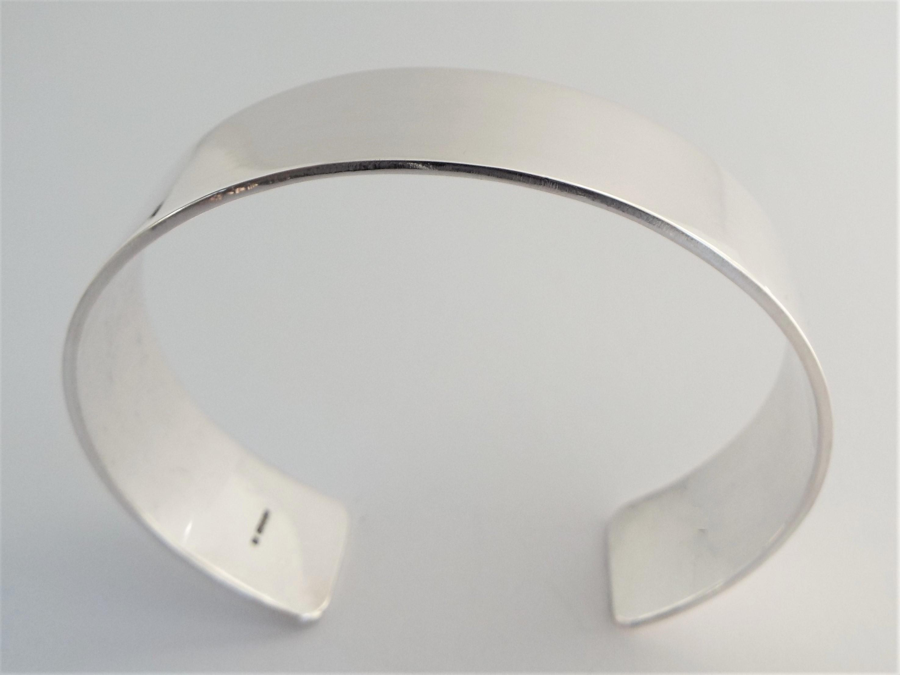 Wide sterling silver personalised cuff bracelet