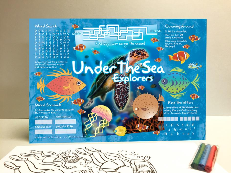 under the seas kids placemats