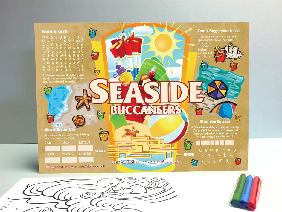 seaside kids placemats