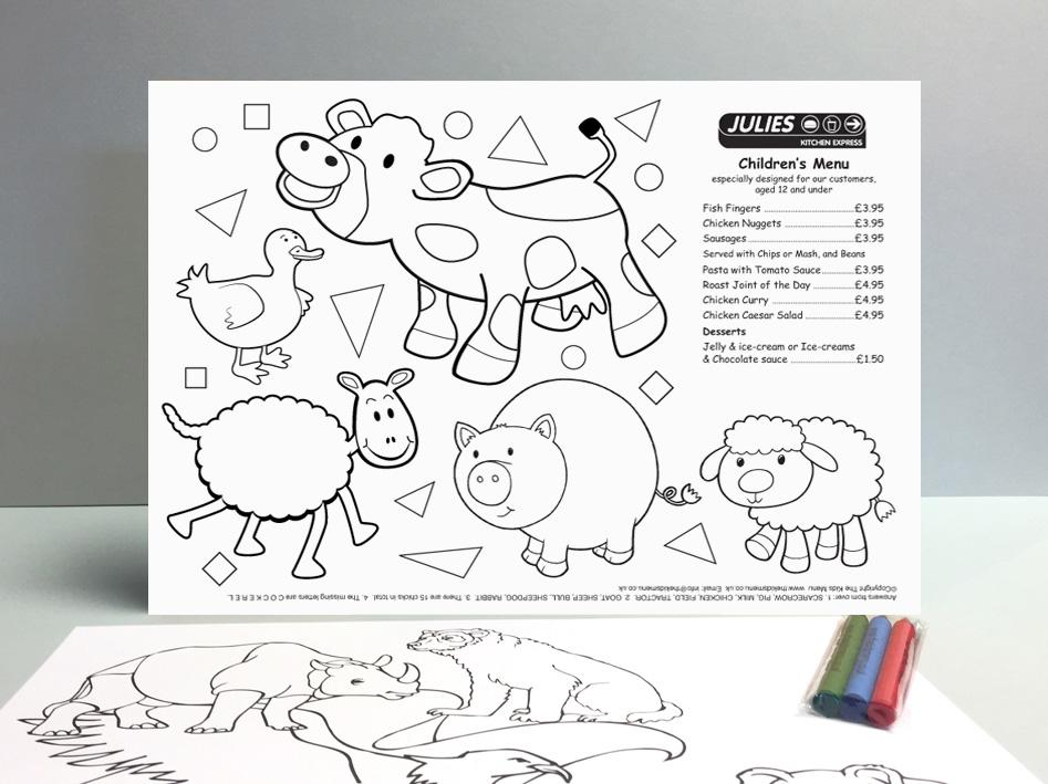 farmyard children's activity sheet