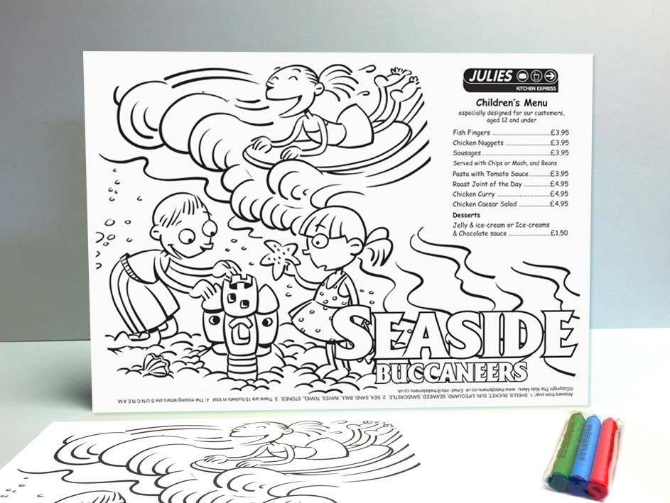 seaside kids menus