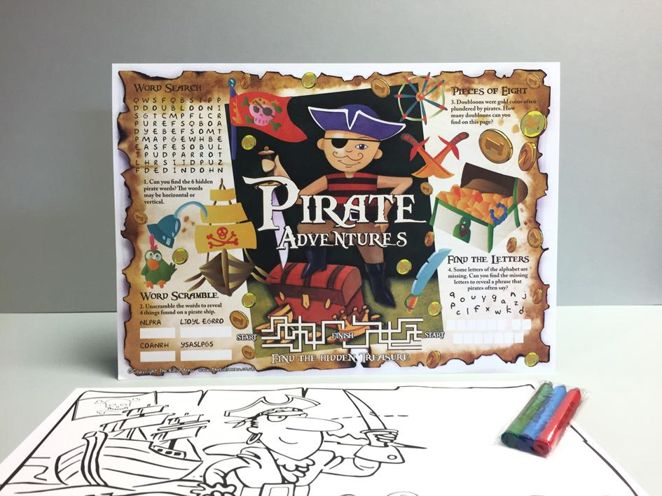 pirate kids placemats