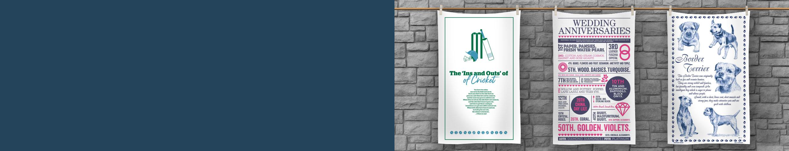 "<p style=""color: #FFF5D1;"">Themed Tea Towels</p>"